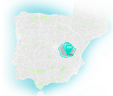 Spain map with the location of Villar de Cañas